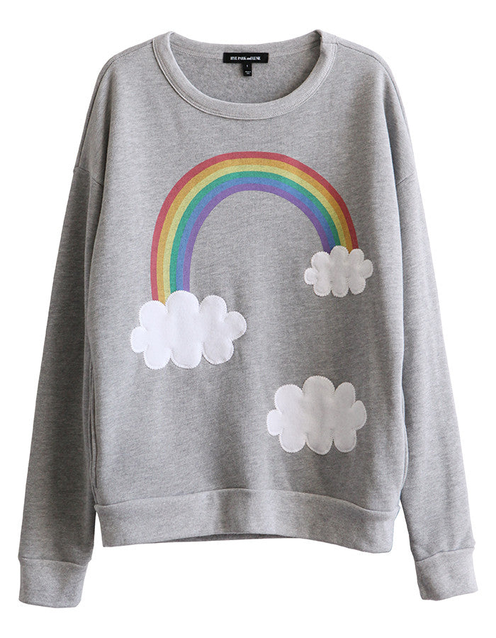 Rainbow Sweatshirts Heather Grey