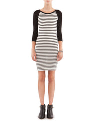 Sabrina Dress Black/White