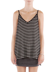 Serena Tank Black/White