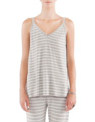 Serena Tank Heather Grey/White