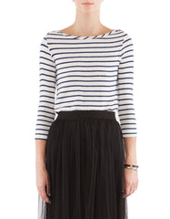 Whitney 3/4 Sleeve Navy Stripe