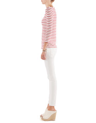 Whitney 3/4 Sleeve Red Stripe