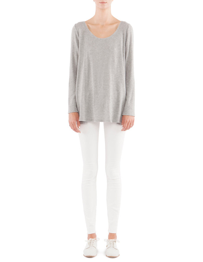 Zenia Long Sleeve Heather Grey