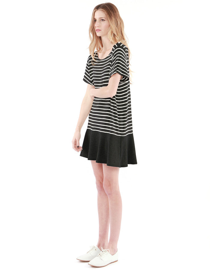 Abel Dress Black/White