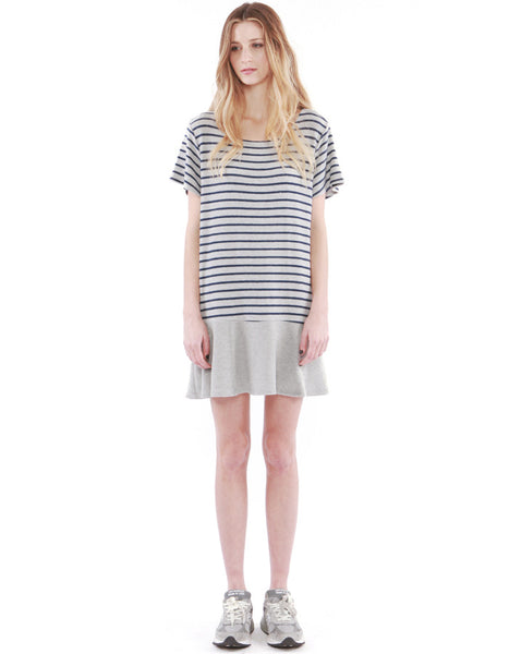Abel Dress Heather Grey/Navy