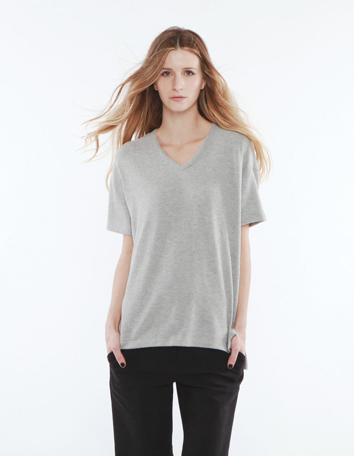 Alexa V Neck Heather Grey