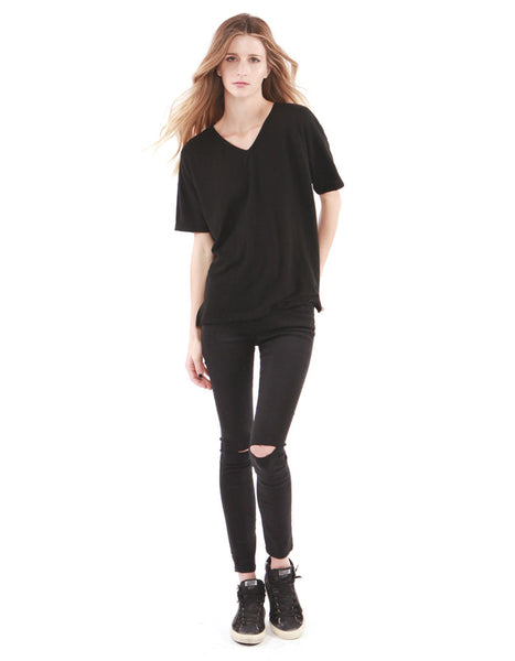 Alexa V Neck Real Black