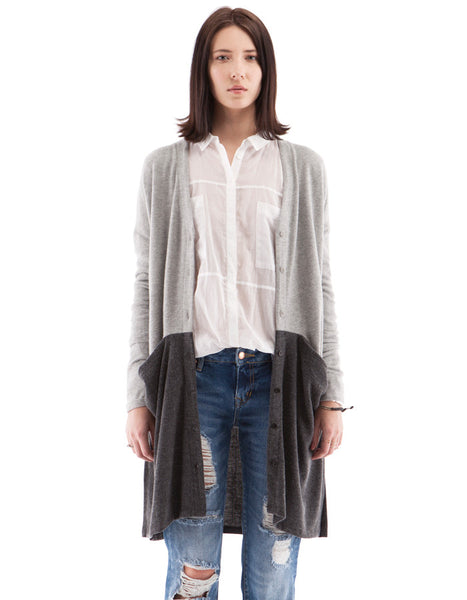 Audrey Cardigan Heather Grey