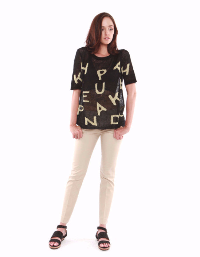Bianca Sweatshirts Black/Gold<br><font color=red><STRIKE>USD $128.00</strike></font>