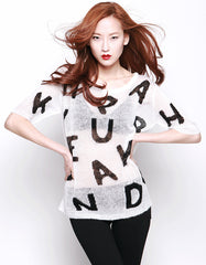 Bianca Sweatshirts White/Black<br><font color=red><STRIKE>USD $128.00</strike></font>