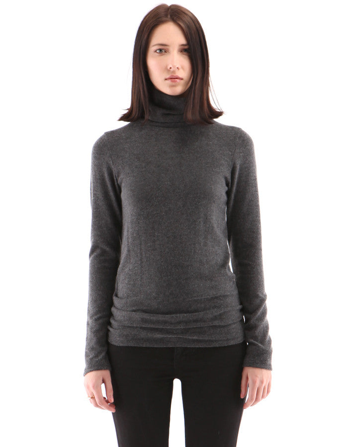 Brooklyn SkinnyTurtle Neck Charcoal Black