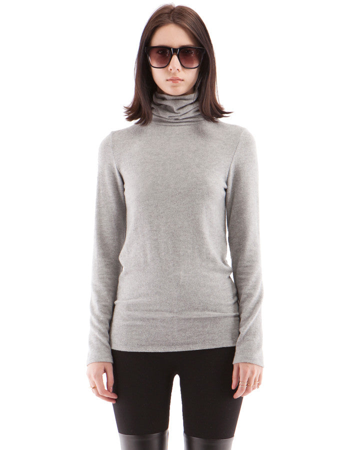 Brooklyn SkinnyTurtle Neck Heather Grey