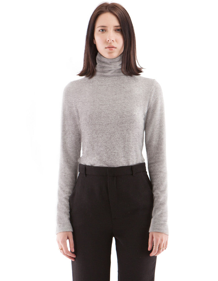 Brooklyn SkinnyTurtle Neck Melange Black