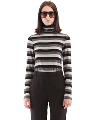 Brooklyn Stripe Turtle Neck Neutral Stripe