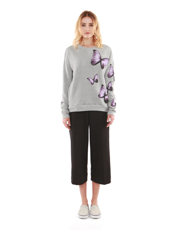 Butterfly Sweatshirts Heather Grey<br><font color=red><STRIKE>USD $158.00</strike></font>