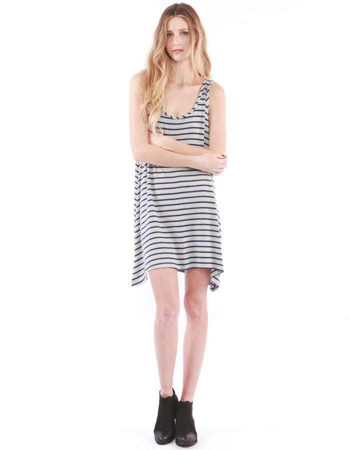 Chloe Tank Dress Heather Grey/Navy