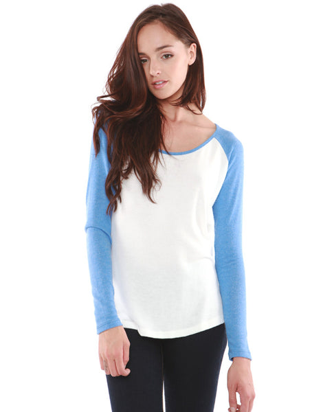 Crescent Raglan Tee Royal