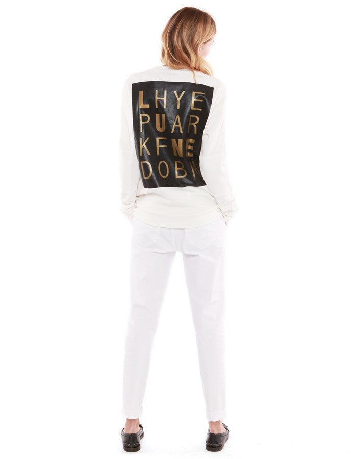Crossword Sweatshirts Off White<br><font color=red><STRIKE>USD $158.00</strike></font>