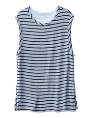 Dylan Tank Top Heather Grey/Navy