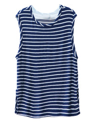 Dylan Tank Top Heather Navy/White