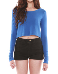 Estelle Long Sleeve Crop Skydiver<br><font color=red><STRIKE>USD $60.00</strike></font>