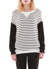 Eva Stripe Sweatshirt Black<br><font color=red><STRIKE>USD $118.00</strike></font>