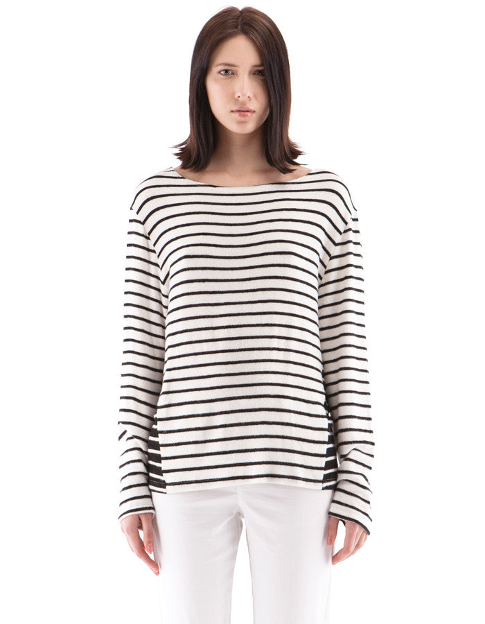 Evelyn Long Sleeve Black/White