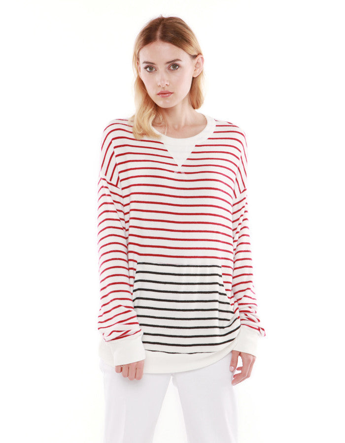 Hades Sweatshirts Red/Black Stripe<br><font color=red><STRIKE>USD $118.00</strike></font>