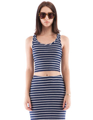 Hailey Tank Navy/White