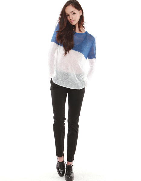 IO Sweater Royal / White<br><font color=red><STRIKE>USD $105.00</strike></font>