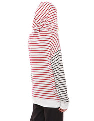Iris Hoodie Red/Black Stripe<br><font color=red><STRIKE>USD $129.00</strike></font>
