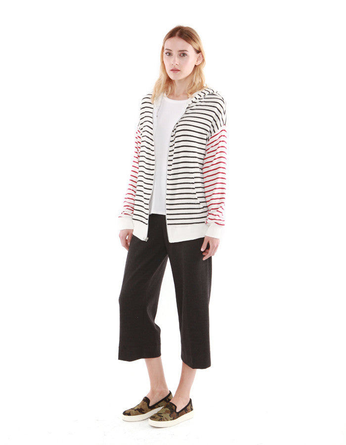 Iris Zip Up Black/Red Stripe<br><font color=red><STRIKE>USD $138.00</strike></font>