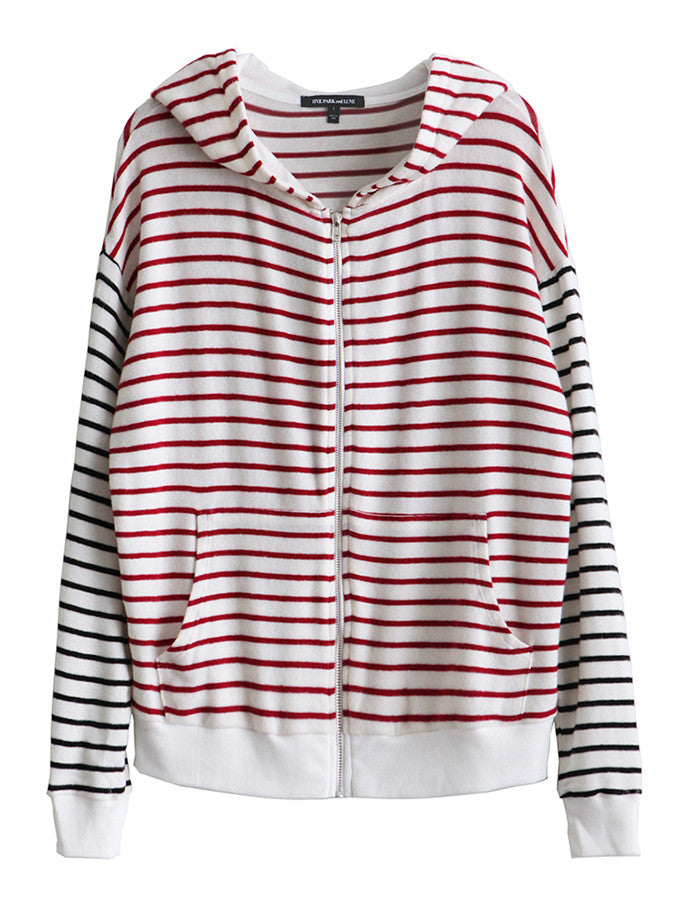 Iris Zip Up Red/Black Stripe<br><font color=red><STRIKE>USD $138.00</strike></font>