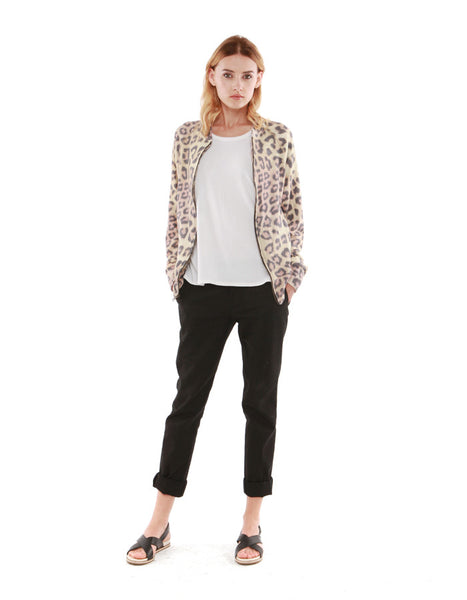 Julian Bomber Jacket Leopard<br><font color=red><STRIKE>USD $158.00</strike></font>