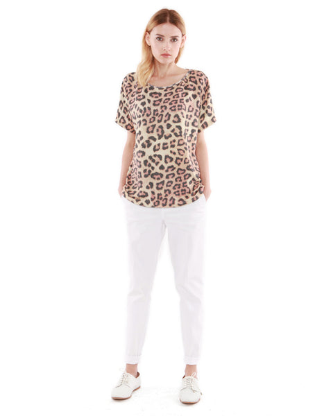 Julian Short Sleeve Leopard<br><font color=red><STRIKE>USD $86.00</strike></font>