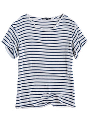 Jupiter Short Sleeve White/Navy Stripe<br><font color=red><STRIKE>USD $73.00</strike></font>