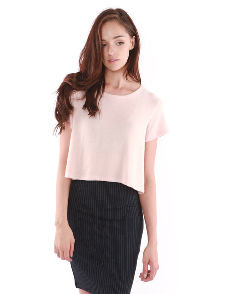 Leporis Short Sleeve Crop Lotus<br><font color=red><STRIKE>USD $53.00</strike></font>
