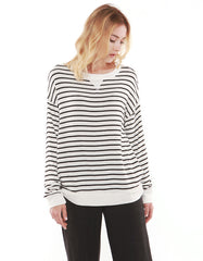 Luna Sweatshirts Black Stripe