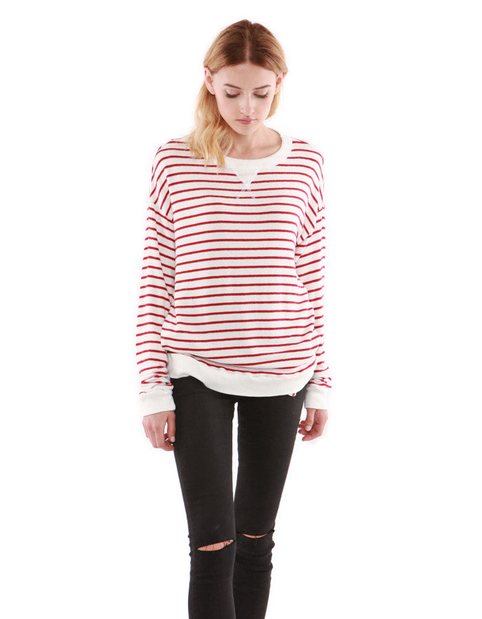 Luna Sweatshirts Red Stripe<br><font color=red><STRIKE>USD $118.00</strike></font>