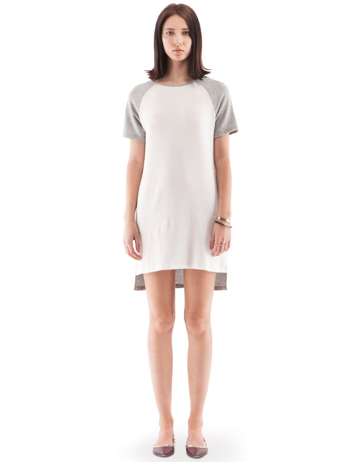 Madeline Raglan Dress Heather Grey