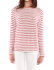 Mars Long Sleeve Ivory/Red Stripe