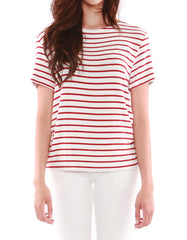 Mars Short Sleeve Ivory/Red Stripe