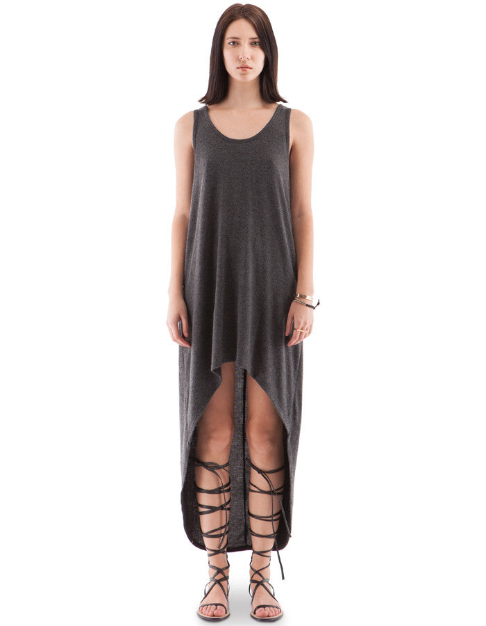 Megan Dress Charcoal Black