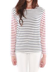 Neptune Long Sleeve Navy/Red Stripe<br><font color=red><STRIKE>USD $79.00</strike></font>