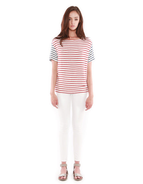Neptune Short Sleeve Red/Navy Stripe<br><font color=red><STRIKE>USD $73.00</strike></font>