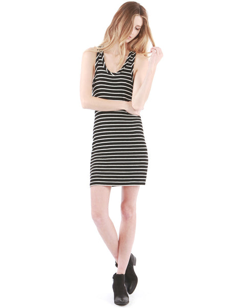 Rachel Dress Black/White