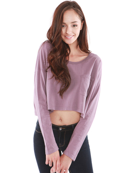 Spica Pocket Long Sleeve Lavender<br><font color=red><STRIKE>USD $77.00</strike></font>