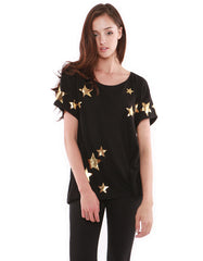 Stella Short Sleeve Real Black/Gold<br><font color=red><STRIKE>USD $84.00</strike></font>