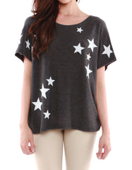 Stella Short Sleeve Black/White