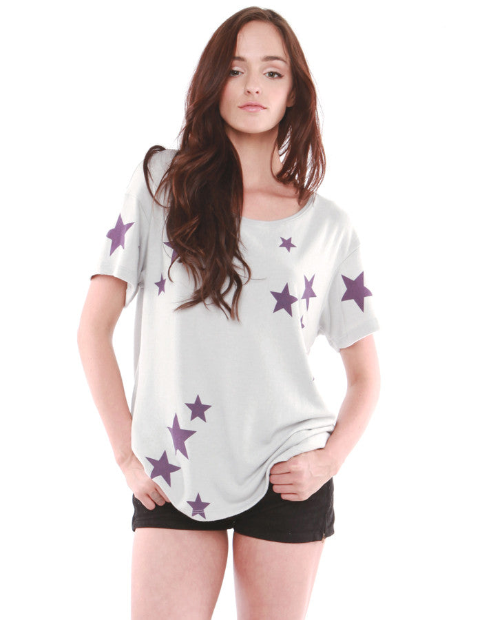 Stella Short Sleeve Grey/Purple